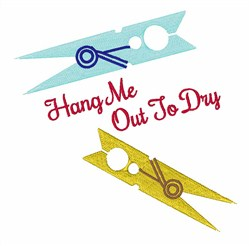 Hang Out To Dry embroidery design