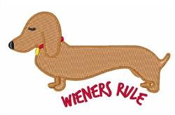 Wieners Rule embroidery design