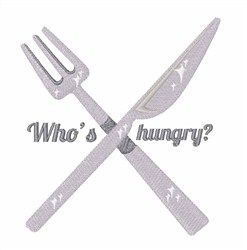 Who Is Hungry? embroidery design