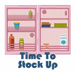 Stock Up embroidery design