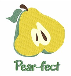 Pear-fect embroidery design