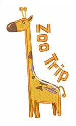 Zoo Trip Giraffe embroidery design