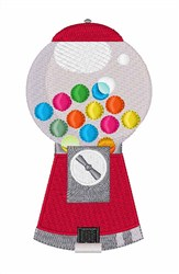 Gumball Machine embroidery design