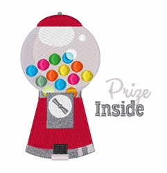 Gumball Prize Inside embroidery design
