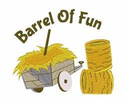 Barrel Of Fun embroidery design