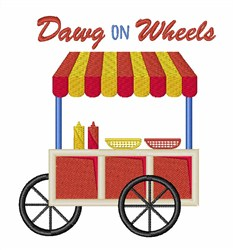 Dawg On Wheels embroidery design