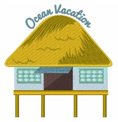 Ocean Vacation embroidery design