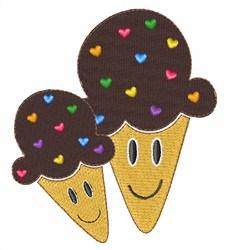 Ice Cream Cones embroidery design