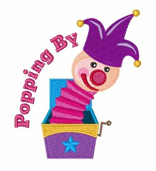 Poppin By embroidery design