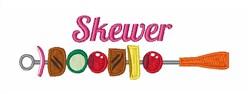 Skewer embroidery design