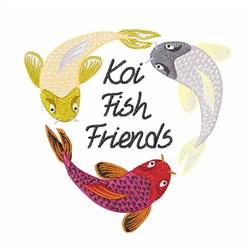 Koi Fish Friends embroidery design