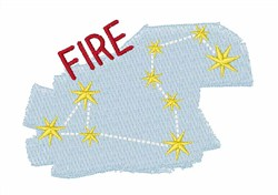 Fire Constellation embroidery design