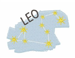 Leo Constellation embroidery design