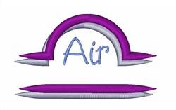 Air Symbol Libra Zodiac embroidery design