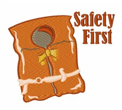Safety First Life Jacket Embroidery Designs, Machine ...