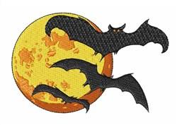 Full Moon Bats embroidery design