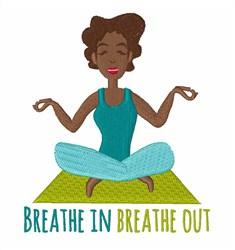 Breathe In embroidery design
