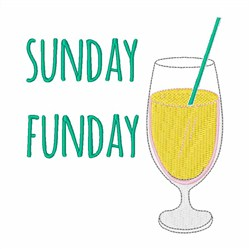 Sunday Funday Cocktail embroidery design