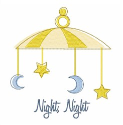 Starry Night Crib Mobile  embroidery design