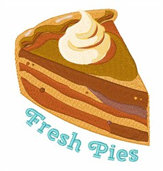 Fresh Pies embroidery design
