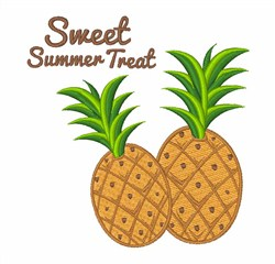 Sweet Summer Treat Pineapple embroidery design