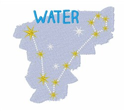 Water Constellation embroidery design