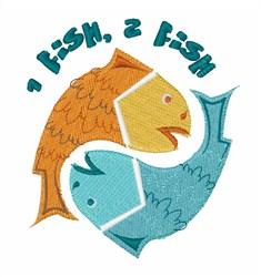 2 Fish embroidery design