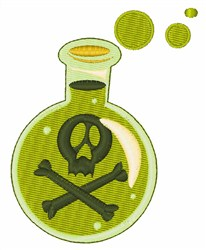 Poision Bottle embroidery design