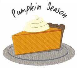 Pumpkin Season Pie embroidery design