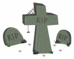 Halloween Graveyard embroidery design