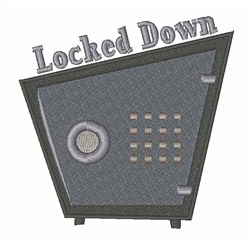 Locked Down embroidery design