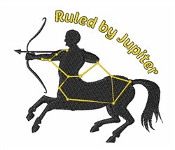 Ruled By Jupiter embroidery design