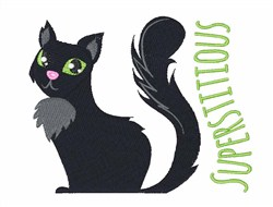 Superstitious embroidery design