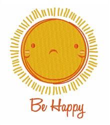 Be Happy Sun embroidery design