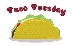 Taco Tuesday embroidery design