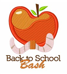 Back To School Apple embroidery design