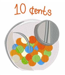 10 Cents embroidery design