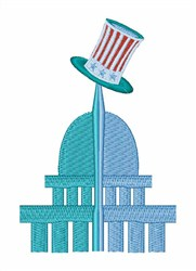 Capitol Building embroidery design