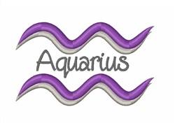 Aquarius Horoscope embroidery design