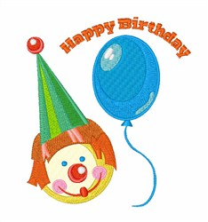 Clown Birthday Wishes embroidery design
