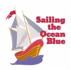 Sailing Ocean embroidery design