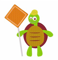 Traffic Turtle embroidery design