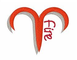 Fire Sign Zodiac Symbol embroidery design