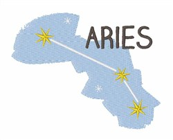 Aries Zodiac Constellation embroidery design