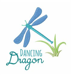 Dancing Dragonfly embroidery design