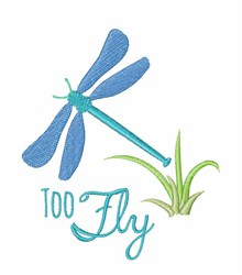 Fly Away Dragonfly embroidery design