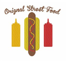 Street Food embroidery design