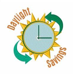 Daylight Savings Watch embroidery design