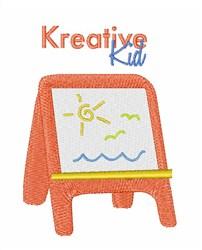 Kreative Kid Easel embroidery design