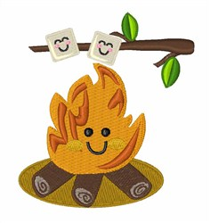 Marshmallow Fire embroidery design